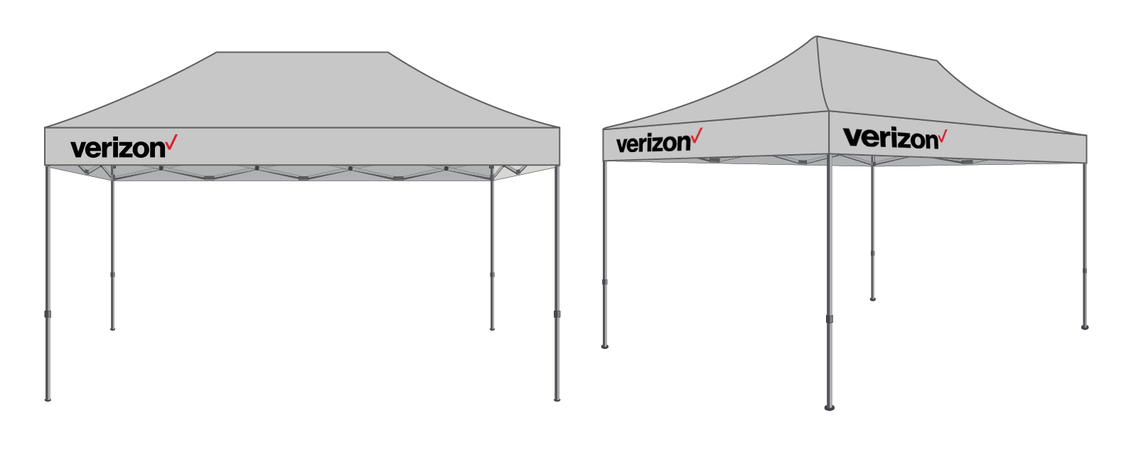 [FREE SHIPPING] 10x20ft Pop-Up Tent (Gray) Imprinted with White-Red Verizon Logo  sc 1 st  Above All Advertising Inc. & FREE SHIPPING] 10x20ft Pop-Up Tent (Gray) Imprinted with White-Red ...